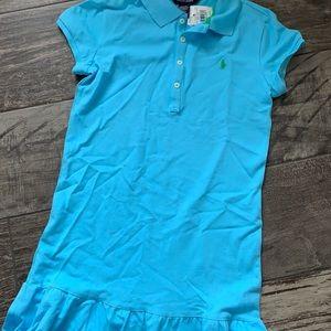 NWT Ralph Lauren Polo pique Shirt Dress Neptune XL